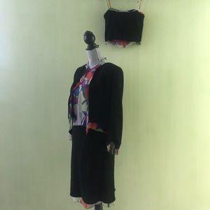 Chanel 4pc skirt suit